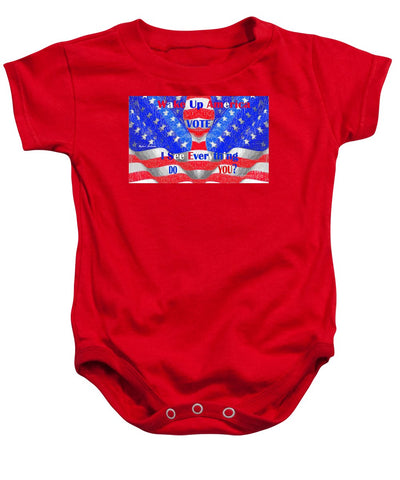 Wake Up America  - Baby Onesie