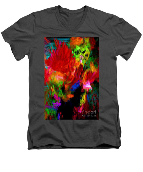 Men's V-Neck T-Shirt - Abstract 0140