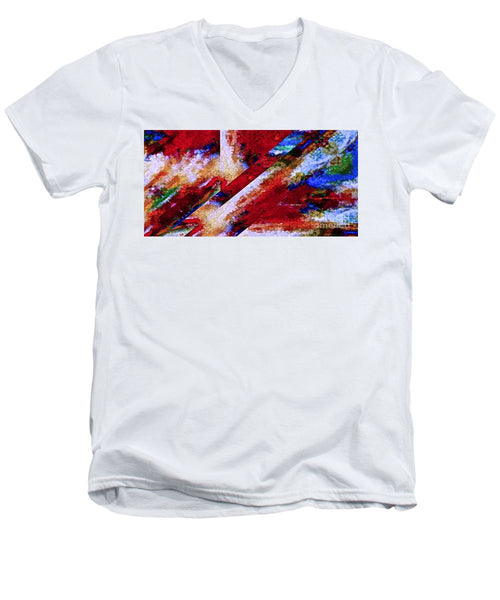 Men's V-Neck T-Shirt - Abstract 0713