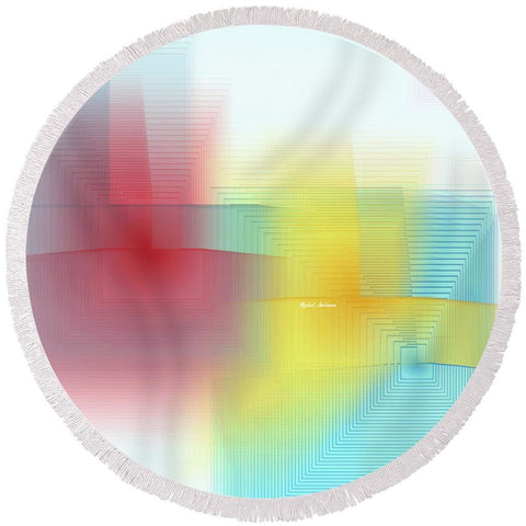 Round Beach Towel - Abstract 1602