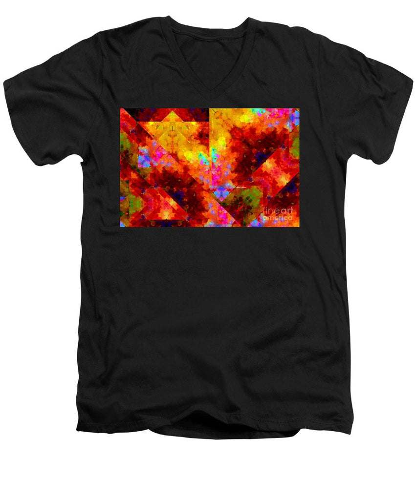 Men's V-Neck T-Shirt - Abstract 472
