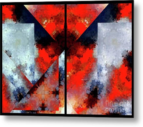 Metal Print - Abstract 475 476 Diptych