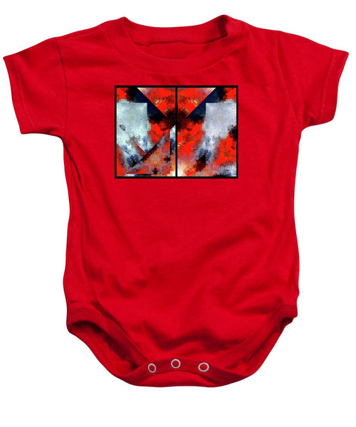 Baby Onesie - Abstract 475 476 Diptych