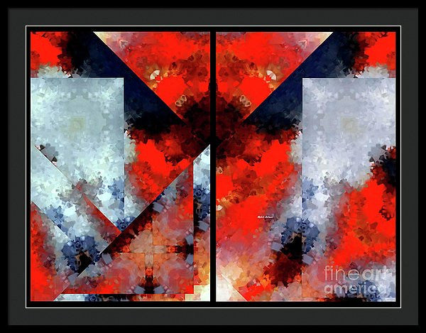 Framed Print - Abstract 475 476 Diptych