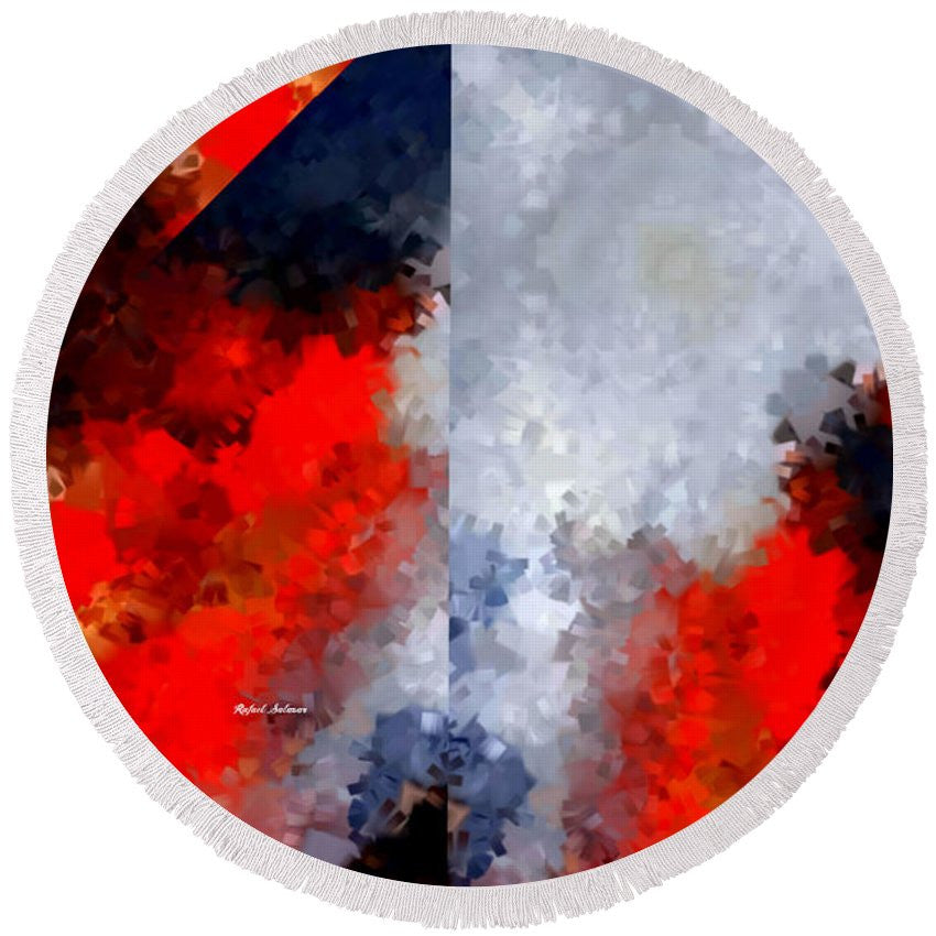Round Beach Towel - Abstract 475