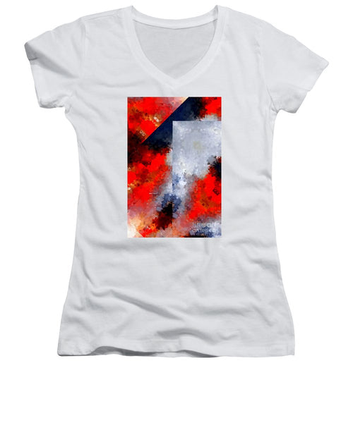 Women's V-Neck T-Shirt (Junior Cut) - Abstract 475
