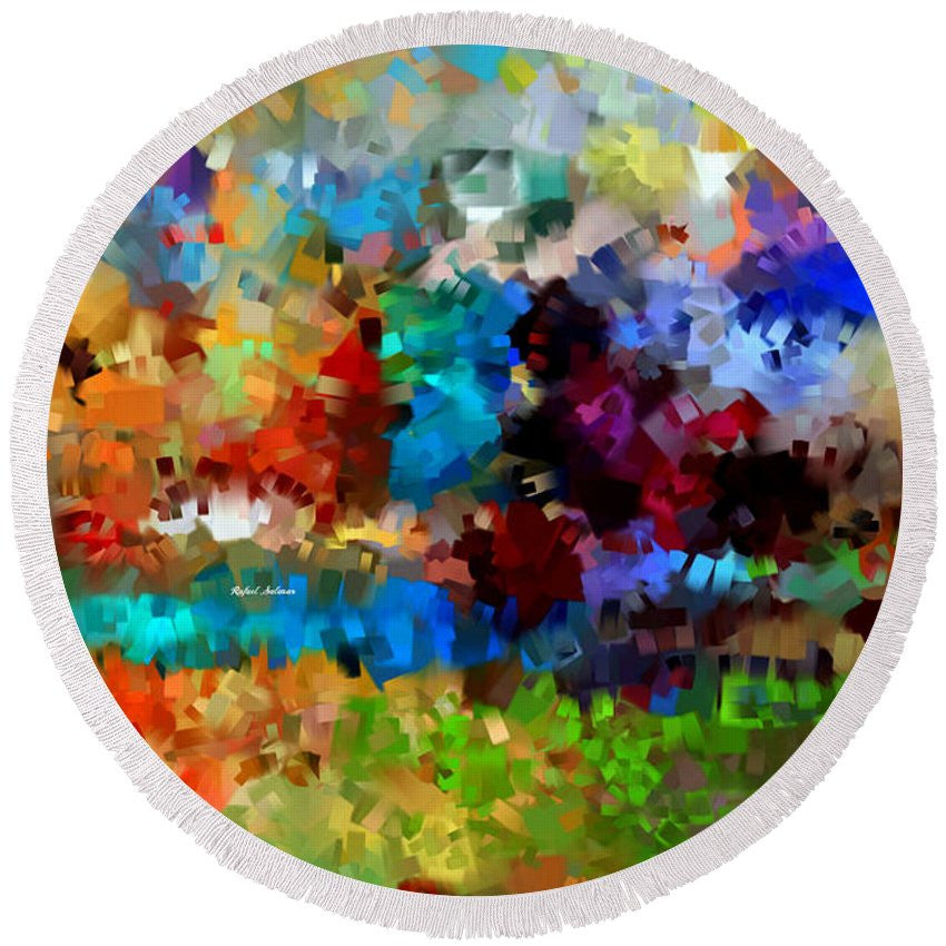 Round Beach Towel - Abstract 477