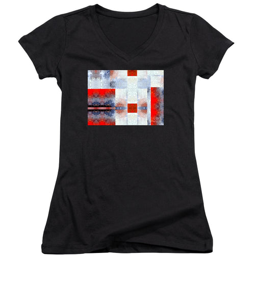Women's V-Neck T-Shirt (Junior Cut) - Abstract 565