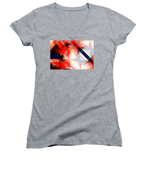 Women's V-Neck T-Shirt (Junior Cut) - Abstract 566