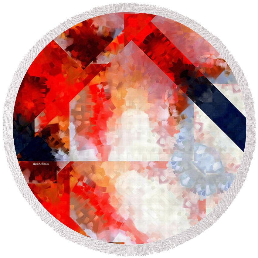 Round Beach Towel - Abstract 566