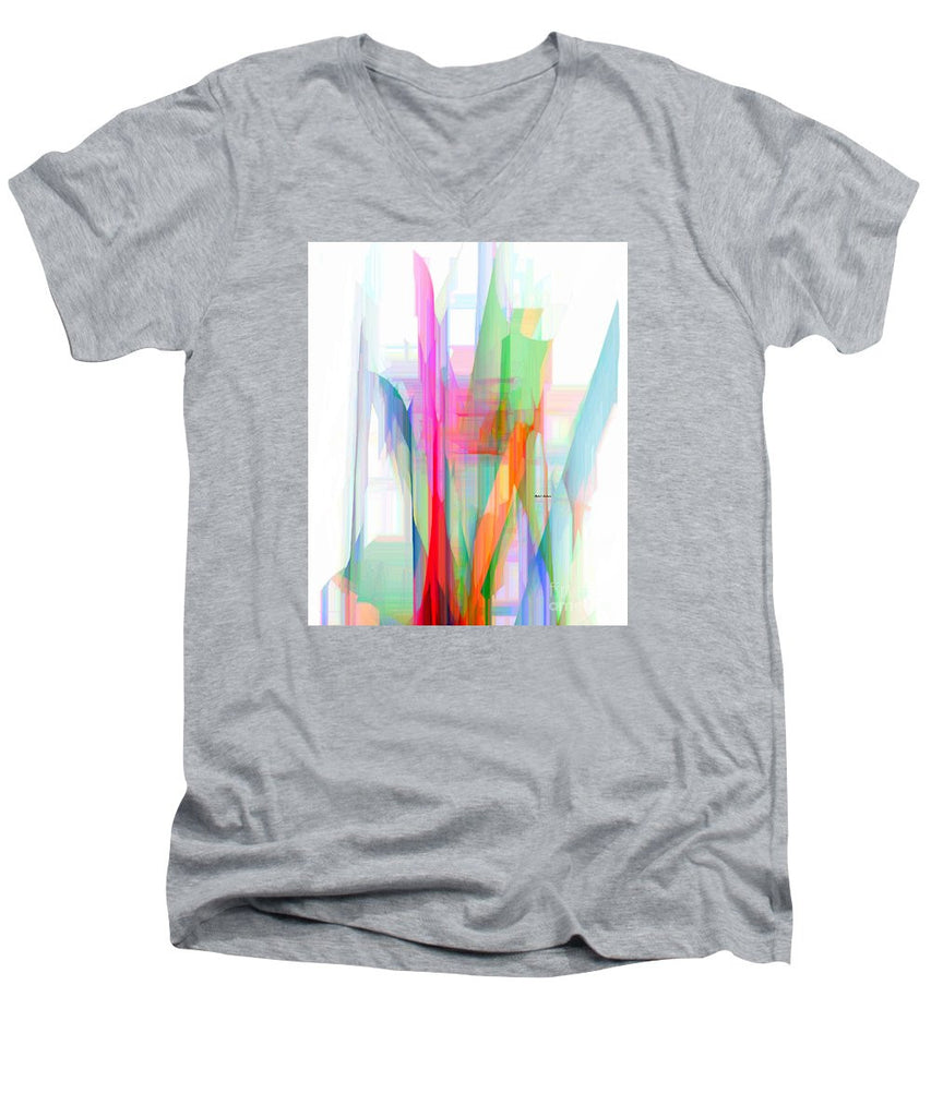 Men's V-Neck T-Shirt - Abstract 9501-001