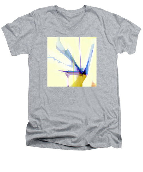 Men's V-Neck T-Shirt - Abstract 9503-001