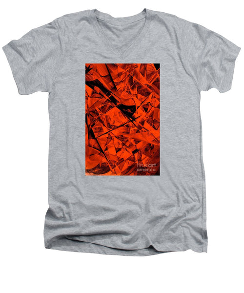 Men's V-Neck T-Shirt - Abstract 9535