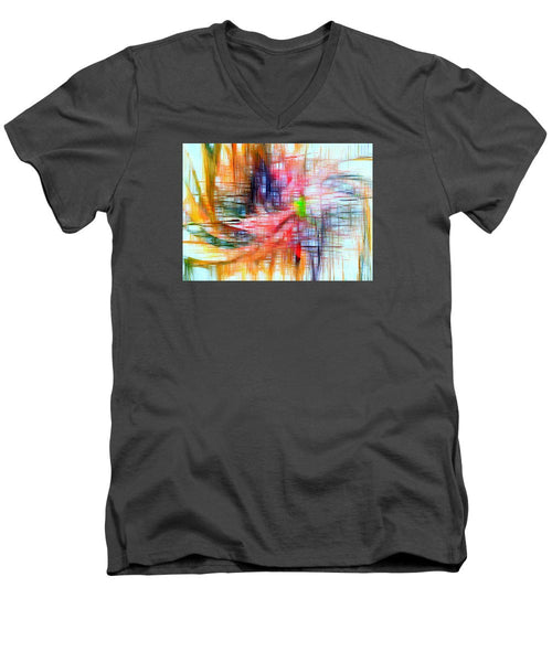 Men's V-Neck T-Shirt - Abstract 9586