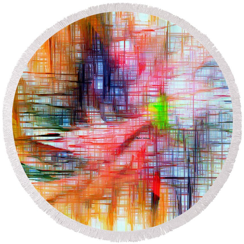 Round Beach Towel - Abstract 9586