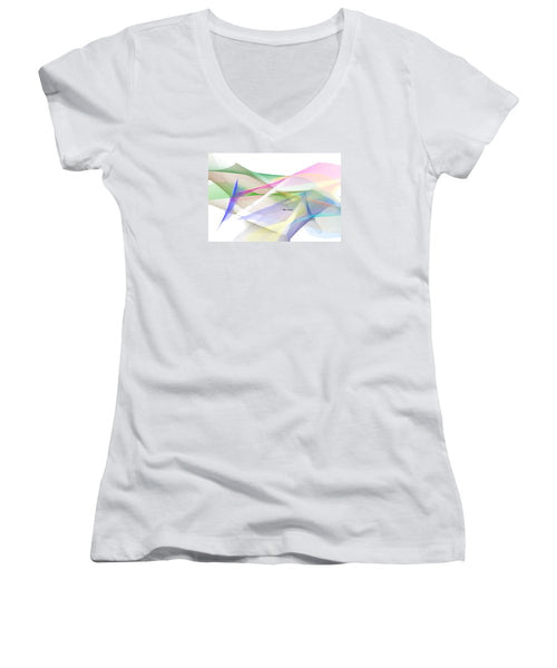Women's V-Neck T-Shirt (Junior Cut) - Abstract 9598