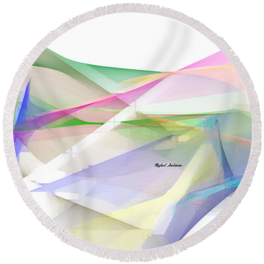 Round Beach Towel - Abstract 9598