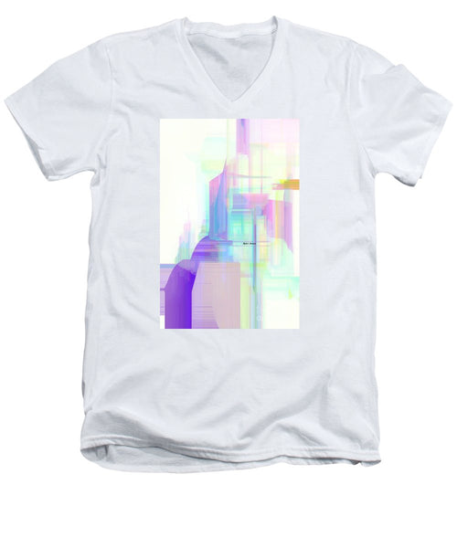 Men's V-Neck T-Shirt - Abstract 9599