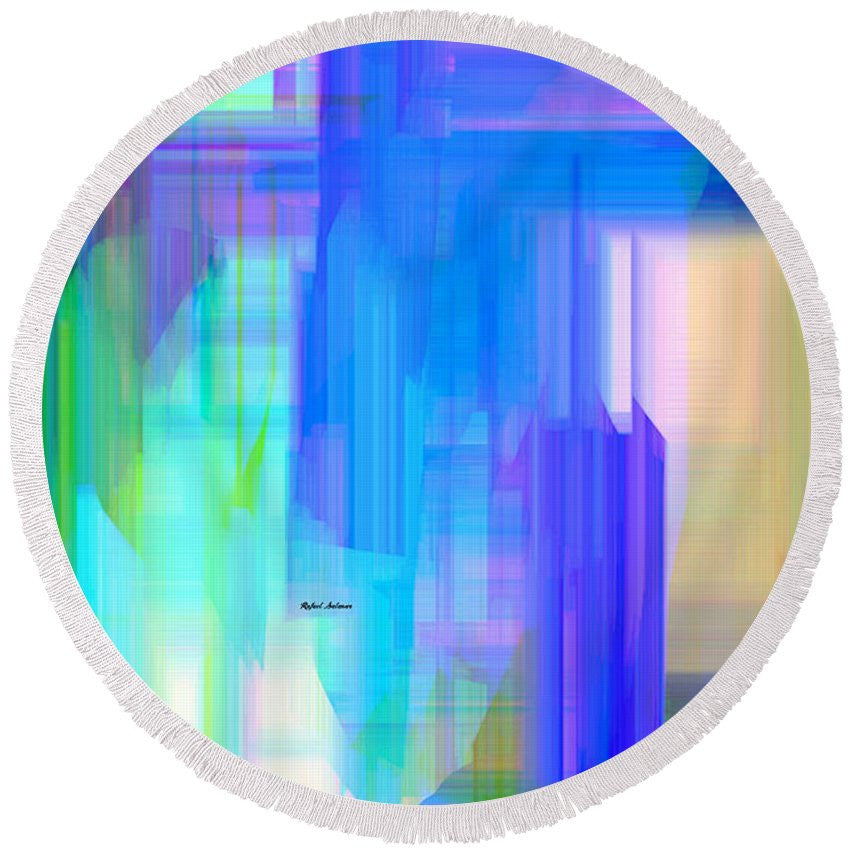 Round Beach Towel - Abstract 962