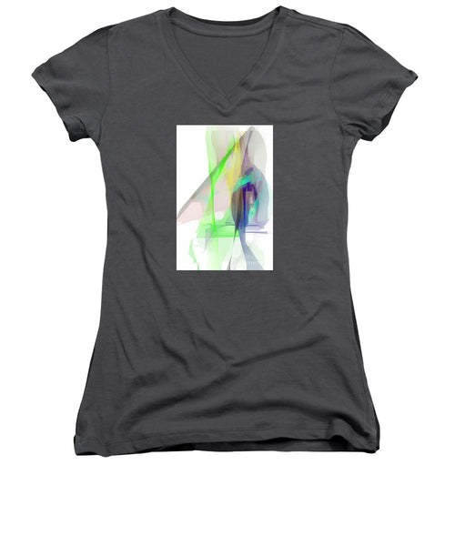 Women's V-Neck T-Shirt (Junior Cut) - Abstract 9627