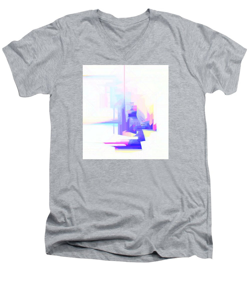 Men's V-Neck T-Shirt - Abstract 9628