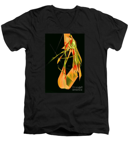 Men's V-Neck T-Shirt - Abstract 9643