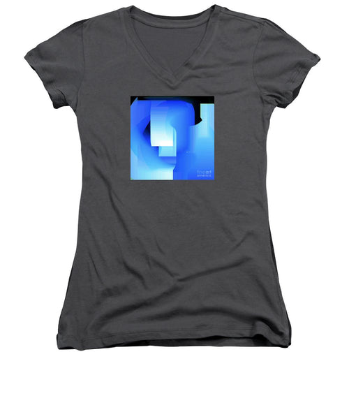 Women's V-Neck T-Shirt (Junior Cut) - Abstract 9728