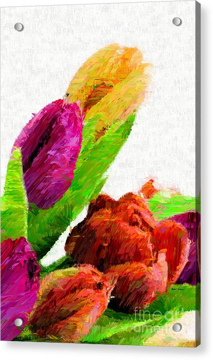 Acrylic Print - Abstract Flower 0722