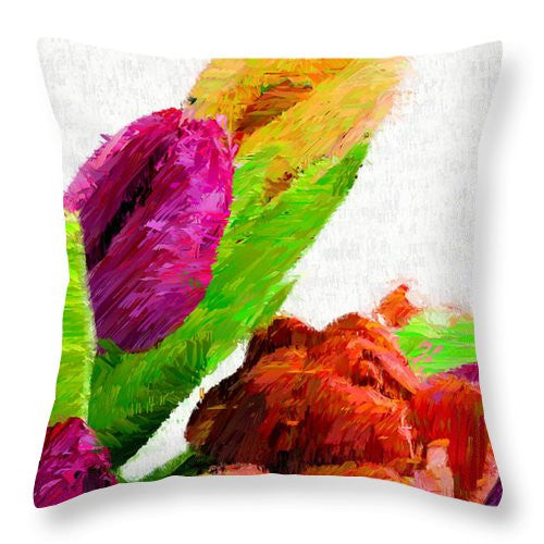 Throw Pillow - Abstract Flower 0722
