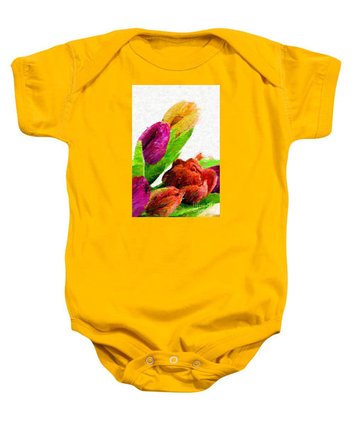 Baby Onesie - Abstract Flower 0722