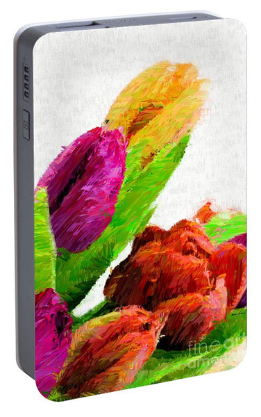 Portable Battery Charger - Abstract Flower 0722