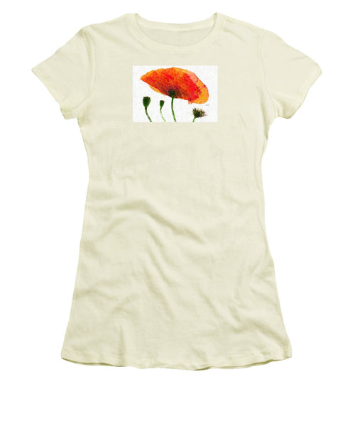 Women's T-Shirt (Junior Cut) - Abstract Flower 0723