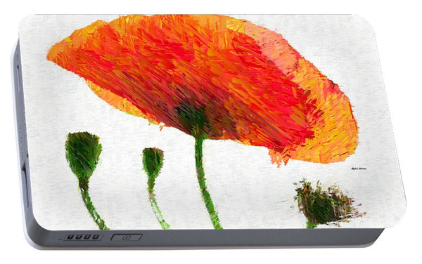 Portable Battery Charger - Abstract Flower 0723