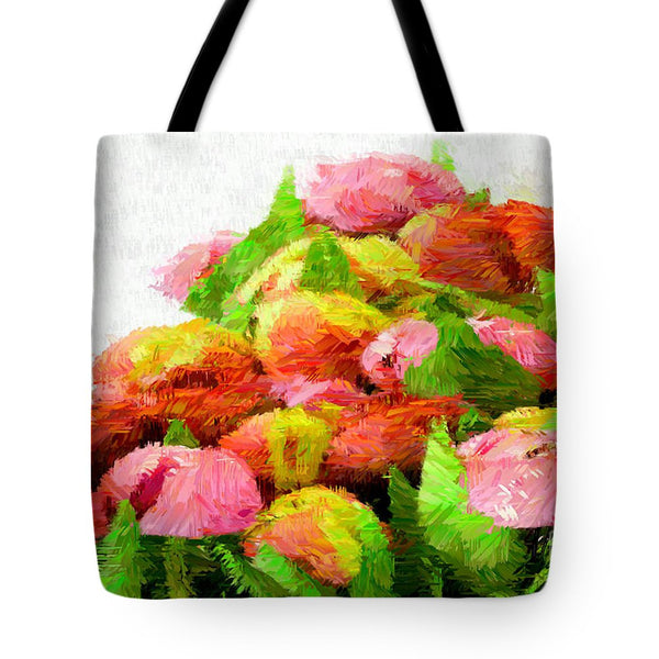 Tote Bag - Abstract Flower 0727