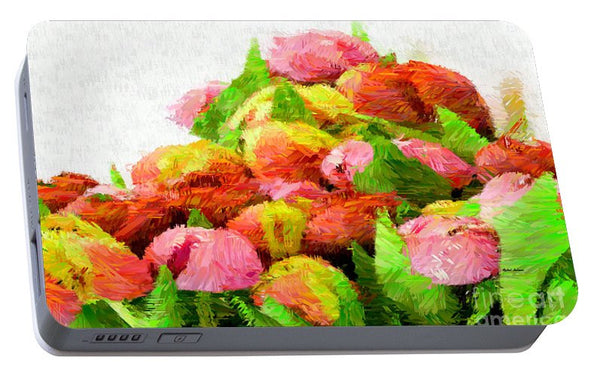 Portable Battery Charger - Abstract Flower 0727