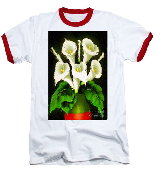 Baseball T-Shirt - Abstract Flower 079