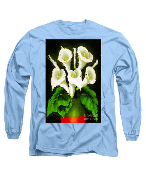 Long Sleeve T-Shirt - Abstract Flower 079
