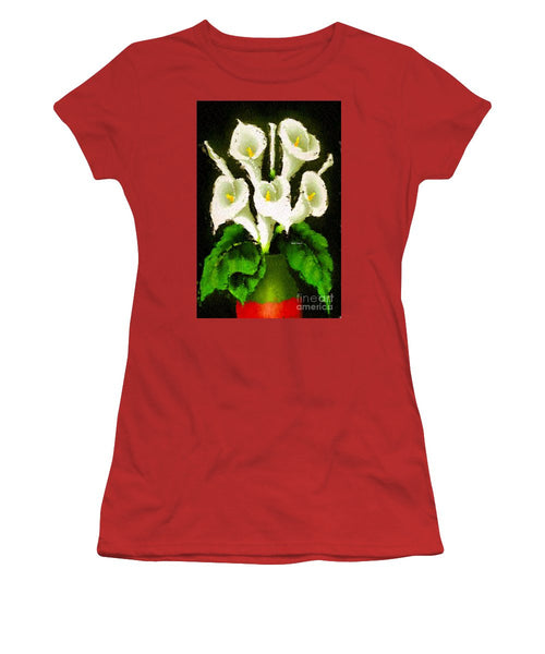Women's T-Shirt (Junior Cut) - Abstract Flower 079
