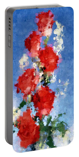 Portable Battery Charger - Abstract Flower 0792