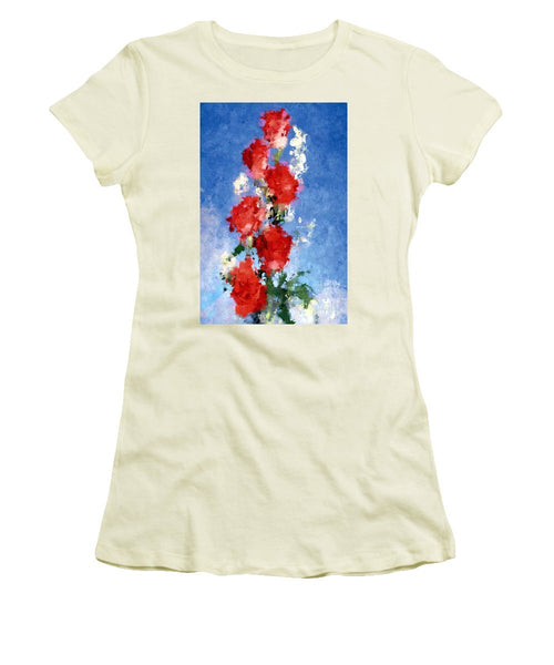 Women's T-Shirt (Junior Cut) - Abstract Flower 0792