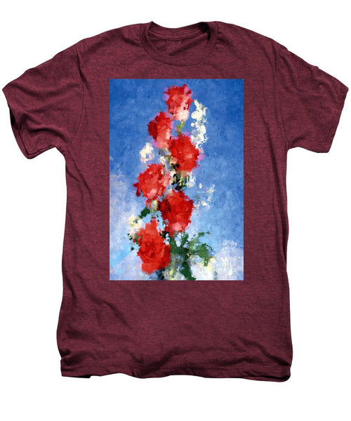 Men's Premium T-Shirt - Abstract Flower 0792