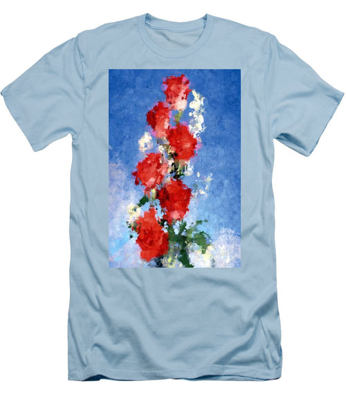 Men's T-Shirt (Slim Fit) - Abstract Flower 0792