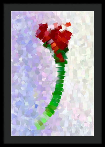 Framed Print - Abstract Flower 0793