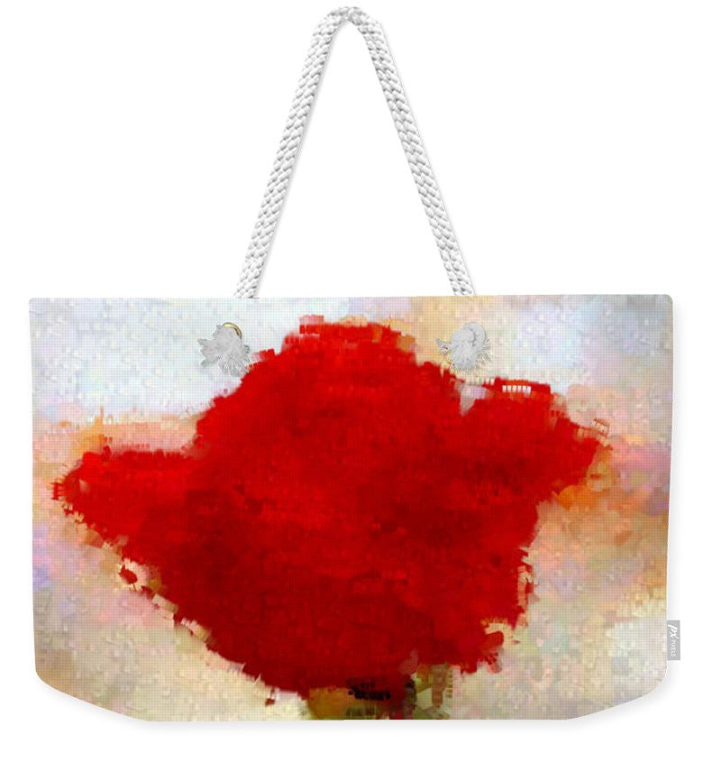 Weekender Tote Bag - Abstract Flower 07978
