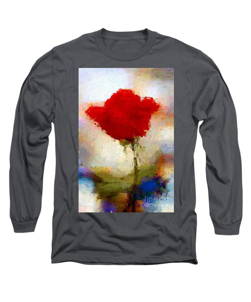 Long Sleeve T-Shirt - Abstract Flower 07978