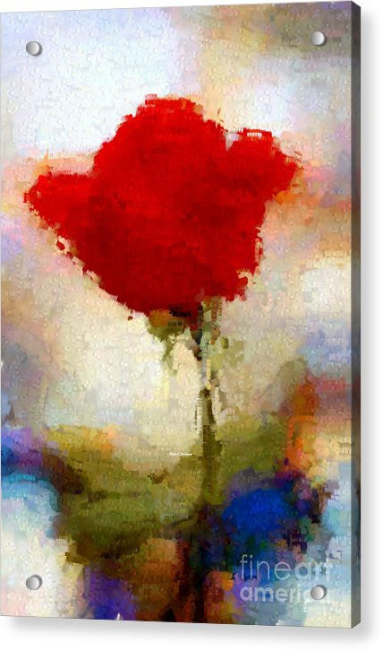 Acrylic Print - Abstract Flower 07978