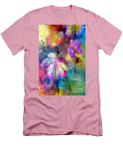 Men's T-Shirt (Slim Fit) - Abstract Flower 0800