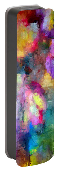 Portable Battery Charger - Abstract Flower 0800