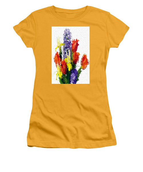 Women's T-Shirt (Junior Cut) - Abstract Flower 0801