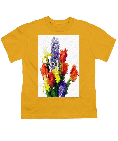 Youth T-Shirt - Abstract Flower 0801